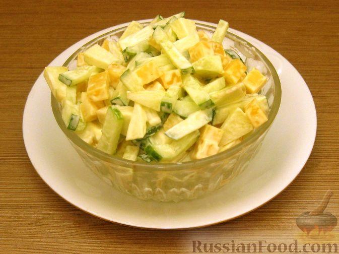 салат из яблок и огурцов для диабетиков фото