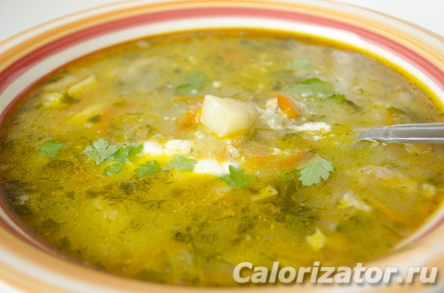 суп из огурцов и риса фото