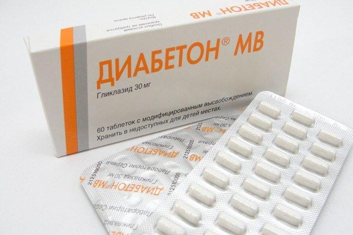 Состав таблеток Диабетон МВ