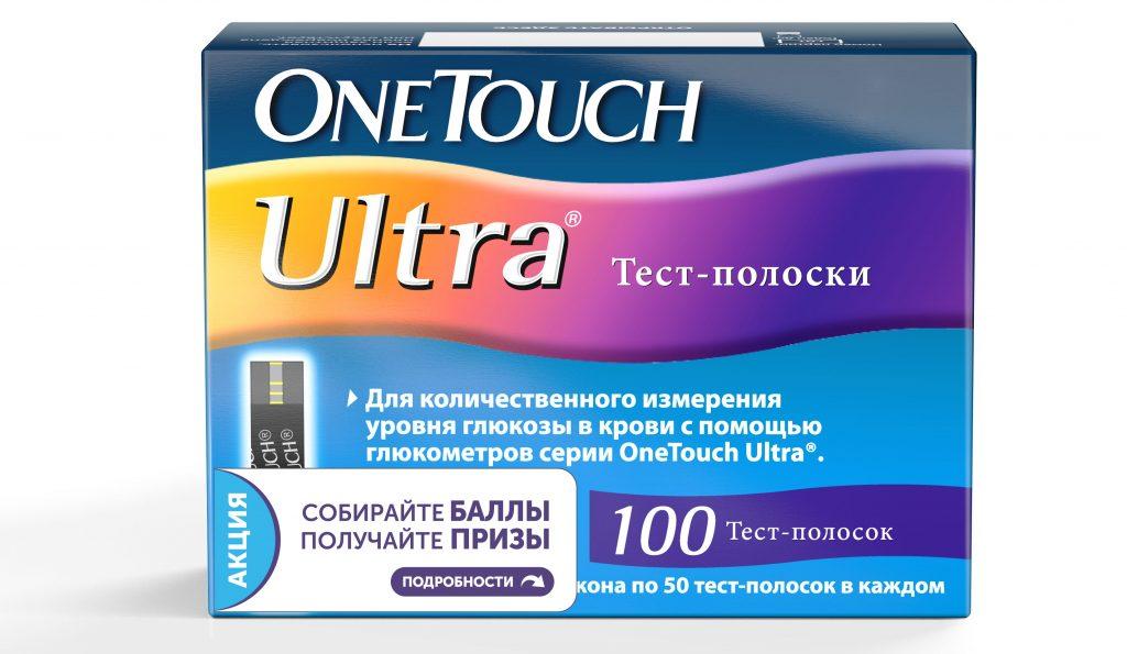 Тест-полоски OneTouchUltra - фото упаковки